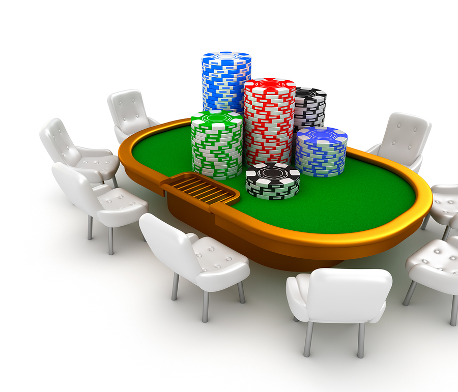 bigstock Gambling poker table with chai 40943983 Pokerexperten